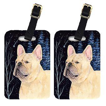 Carolines Treasures  SS8441BT Starry Night French Bulldog Luggage Tags Pair of 2