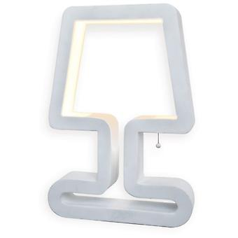 Mimax Table Lamp Led Decorative Logo Lacquered White 758 Lumens 12 W