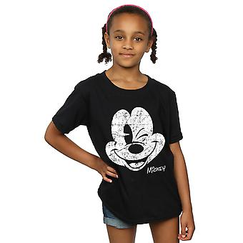 Filles de Disney Mickey Mouse en difficulté T-Shirt visage