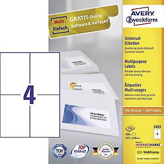 Avery-Zweckform 3483 Labels (A4) 105 x 148 mm Paper