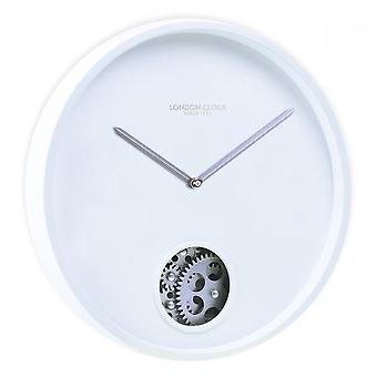 London Clock 1922 30cm Titanium Precision White Wall Clock