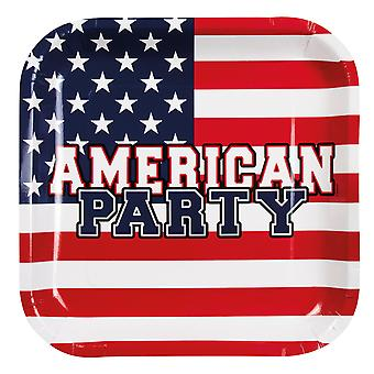 Boland American Party Flag Style Paper Plates Party Celebration Tableware