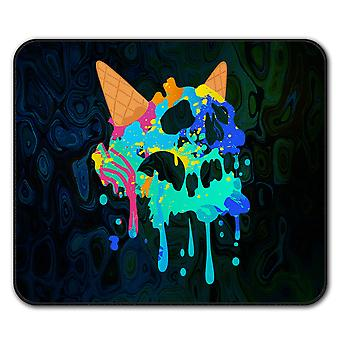 Skull Ice Cream Junk Food  Non-Slip Mouse Mat Pad 24cm x 20cm | Wellcoda
