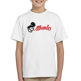 Mambo Greaser Quiff Kid's T-Shirt