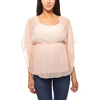 Blouse top 2 in 1 set beads snippet Rosa vivance collection
