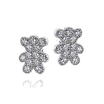 Orphelia Silver 925 Earring Teddy Bear With Zirconium  ZO-7352