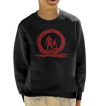 Gott des Krieges Held Blut Silhouette Kid Sweatshirt