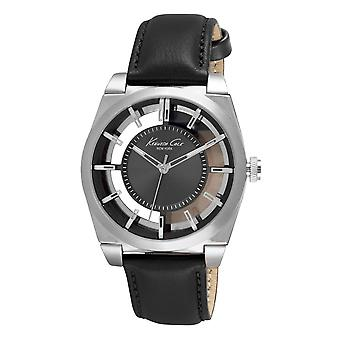 Kenneth Cole New York men's wrist watch analog quartz leather 10027837