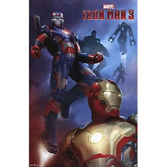 Marvel Iron Man 3 - Patriot Poster Print