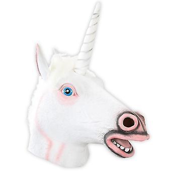 Masker white Unicorn Unicorn masker carnaval