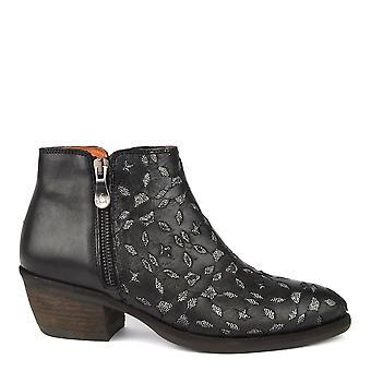 Kanna Borba Black Leather Ankle Boot