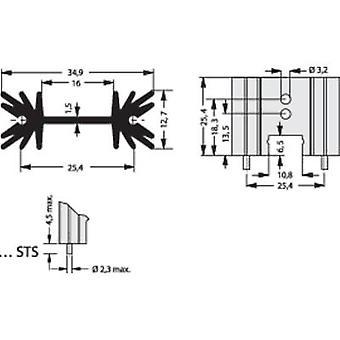 Pin heat sink 14 C/W (L x W x H) 34.9 x 25.4 x 12.7 mm TO 220, SOT 32 Fischer Elektronik SK 104 25,4 STS