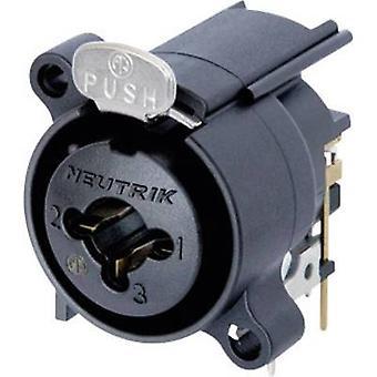 Neutrik NCJ6FA-H XLR connector Sleeve socket, right angle pins Number of pins: 3 Black 1 pc(s)