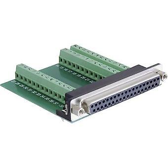D-SUB receptacles 180 ° Number of pins: 37, 39 Delock