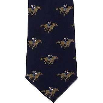 Michelsons of London Horse Racing Silk Tie - Navy