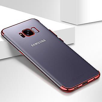 Celular capa capa para Samsung Galaxy S8 transparente vermelho transparente