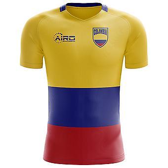2018-2019 Kolumbien Flagge Konzept Fußballtrikot