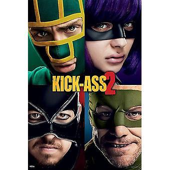 Calci il teaser poster di ACE 2 Aaron Johnson, Christopher Mintz-Plasse, Chloë grace Moretz, Jim Carrey.
