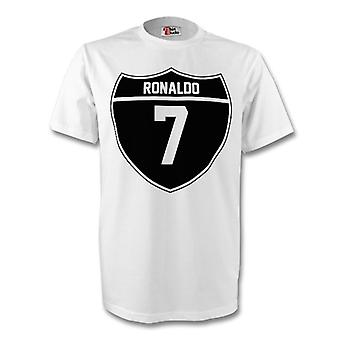 Cristiano Ronaldo Real Madrid Crest Tee (blanco)