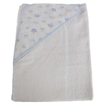 Snuggle Baby Baby Boys/Girls Crown Pattern Hooded Towel