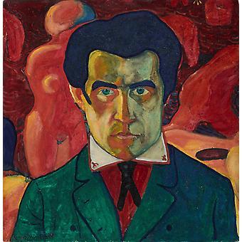 Self-portrait, Kazimir Malevich, 27x 26.8 cm