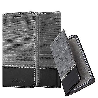 Cadorabo case for LG Q6 - mobile case with stand function and compartment in the fabric design - case cover sleeve pouch bag book