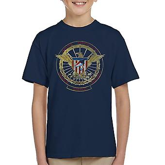 NASA STS 51 C Discovery Mission Badge Distressed Kid's T-Shirt