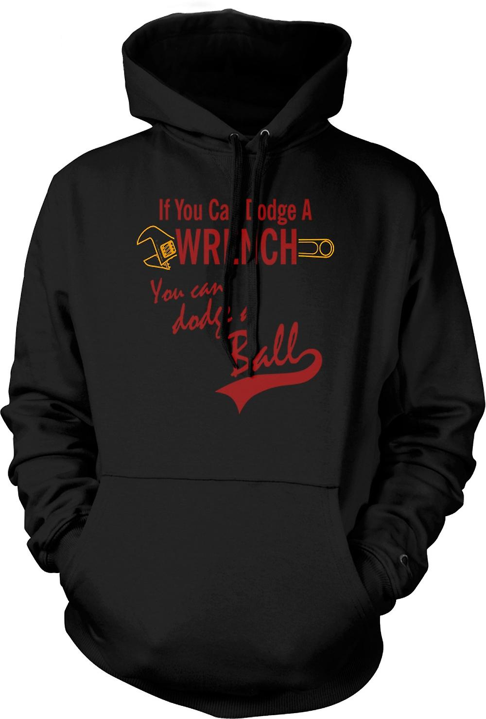 Mens Hoodie - Dodgeball Dodge A Wrench - Funny