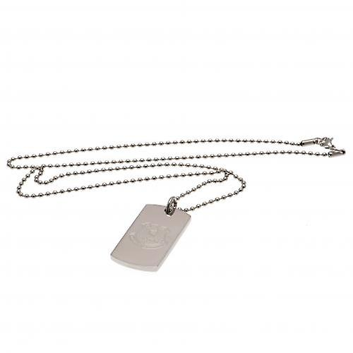 Everton Gravierte Crest Dog Tag & Chain