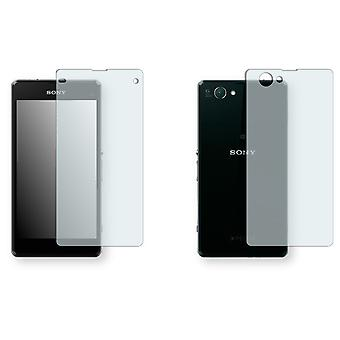 Sony Xperia Z1 compact display protector - Golebo crystal-clear protector (1 front / 1 rear)