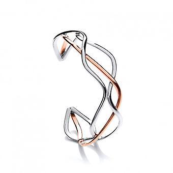 Cavendish franska sterlingsilver och koppar Spaghetti manschetten armband