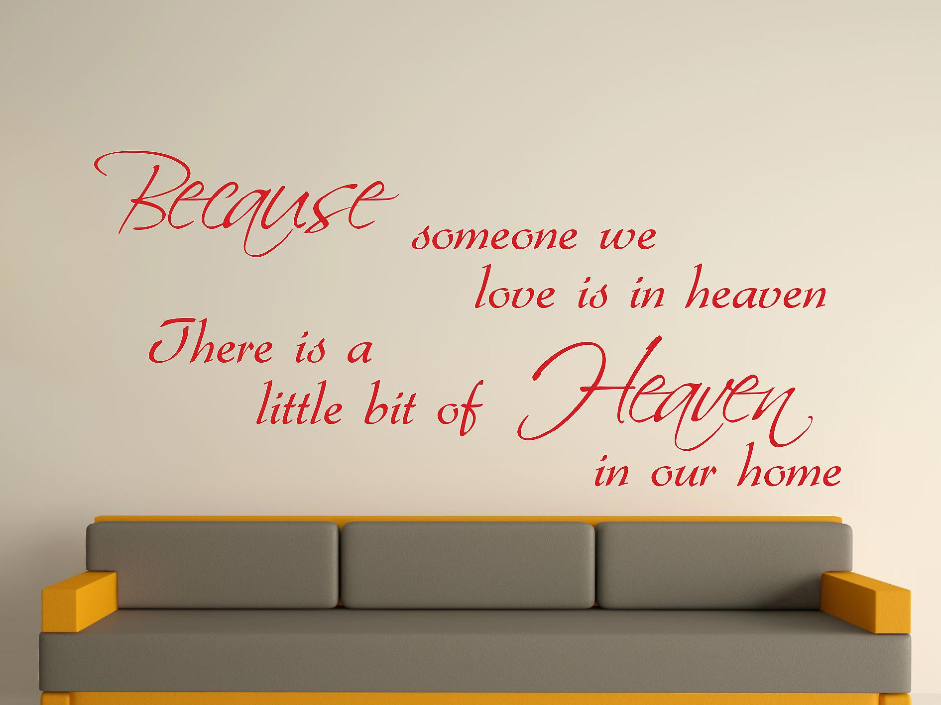 Because Someone Wall Art Sticker - Cherry Red