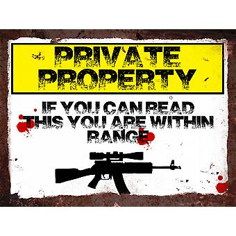 Vintage Metal Wall Sign - Private Property