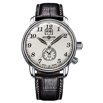 Zeppelin analog quartz watch with leather band _ 7644-5
