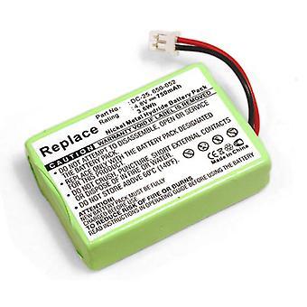Batteri for SportDOG SR200-jeg støt krage mottaker ProHunter 2400 HoundHunter 3200 SportHunter 1800