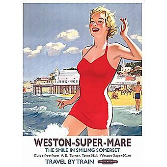 Weston Super Mare (old rail ad.) fridge magnet  (og)