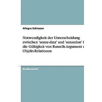 Notwendigkeit der Unterscheidung zwischen sensedata und sensation fr die Gltigkeit von Russells Argument der ObjektRelationen by Schiesser & Allegra