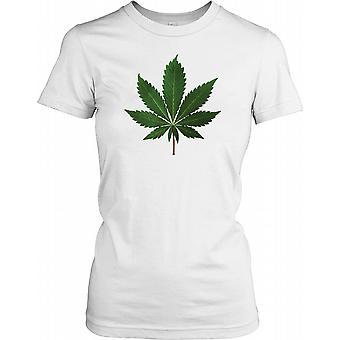Marijuana Leaf - Funny Ladies T Shirt