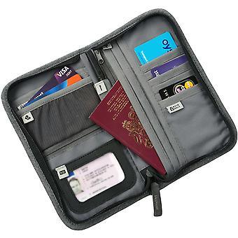 Craghoppers Mens & Womens Sleek Linen-Look Travel Wallet