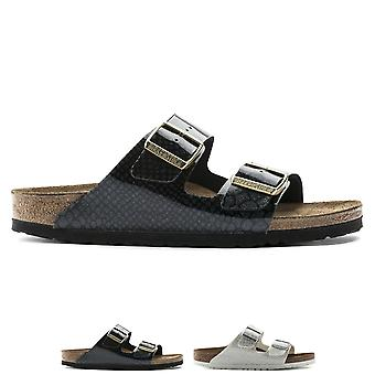 Womens Birkenstock Arizona Birko-Flor Magic Snake Twin Buckle Sandals