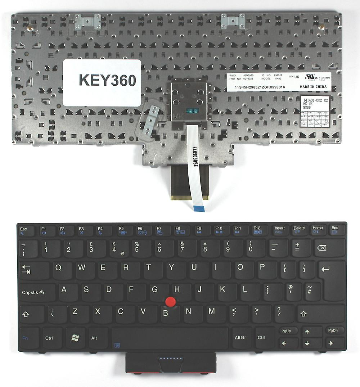 Lenovo 45N2965 noir UK Layout remplaceHommest clavier d'ordinateur portable