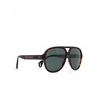 Gucci Eyewear Sport Rounded Aviator Sunglasses