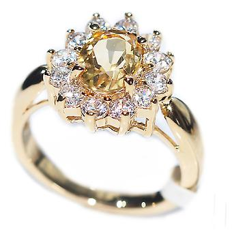 Ah! Jewellery Citrine Solitaire Setting Ring. Gold Filled., Stamped GL