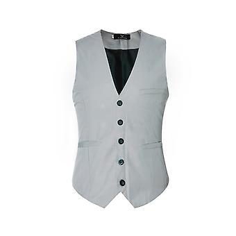 Allthemen Men's V-Neck Suit Vest Cotton Slim Four Seasons Vest