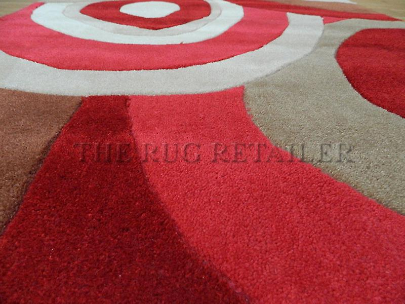 Rugs - Picasso Whirl Zulu - Red