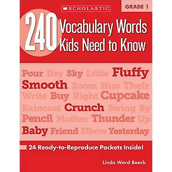 240 Vocabulary Words Kids Need to Know - Grade 1 - 24 Ready-To-Reprodu