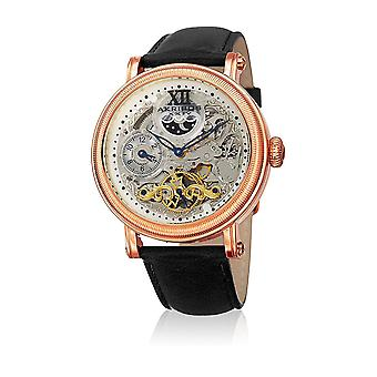 Akribos XXIV Men's Automatic Multifunction Leather Strap Watch AK968RGBK