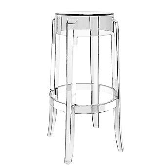 Fusion Living Ghost Style Bar Stool Crystal Clear - 66cm