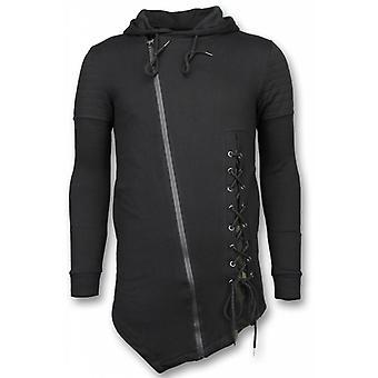Casual Vest - Long Fit Braided Vest - Zwart