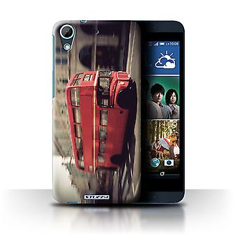 STUFF4 Case/Cover for HTC Desire 626G+/Red Bus/London England